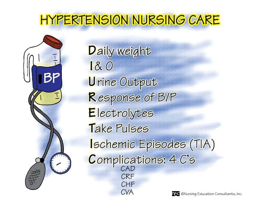 مراقبت پرستاری در هایپرتنشن